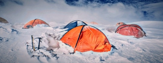 Multiple Cold Weather Tents In Snow 1 & Cold Weather Tents - Analyzing 5 Of The Best For Survival